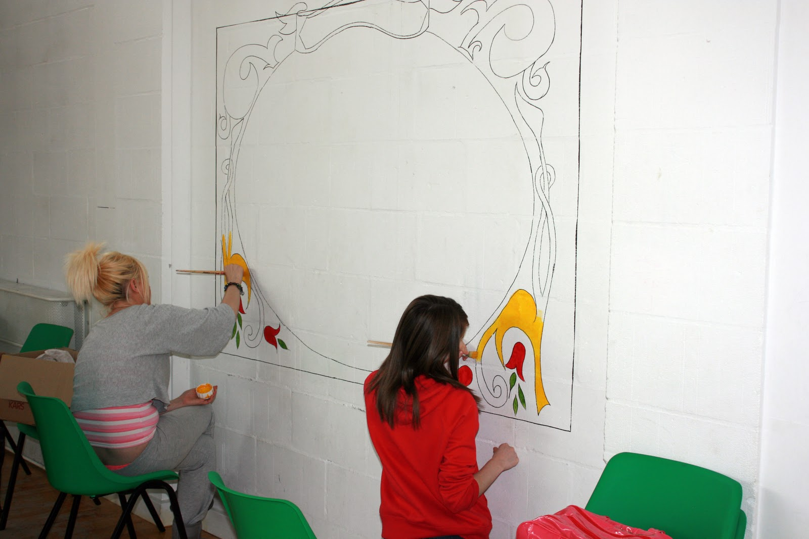 Croy Historical Society - Mural Painting In Progress
