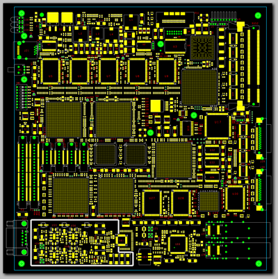 Reduced size circuit board image