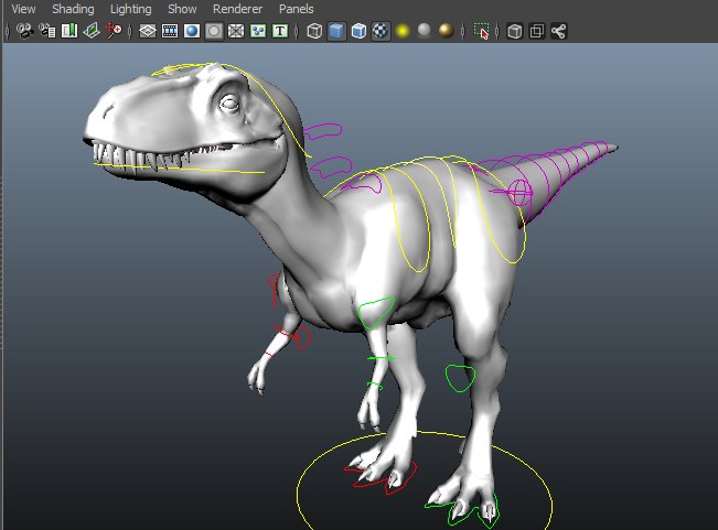 Dinosaur Rigging Example
